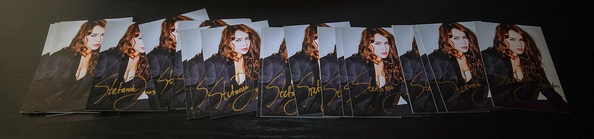 stefanie joosten signed cards