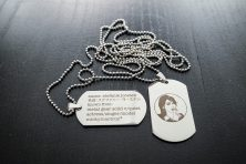 Military tag necklace Stefanie Joosten